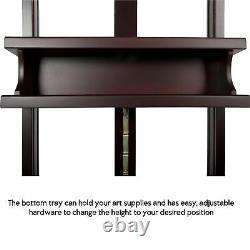 SoHo Urban Artist Wooden H-Frame Studio Easel Mahogany Adjustable Tilt Caster