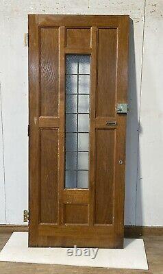 Solid Oak Hardwood Front Door-bespoke-handmade-wooden-1930s-period-leaded