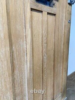 Solid Oak Hardwood Front Door-bespoke-handmade-wooden-1930s-period-reclaimed