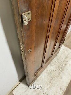 Solid Oak Hardwood Front Door-handmade-bespoke-wooden-1930s-period-leaded