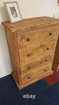 Solid Wood Rustic Chunky Small Chest Of Drawers Wooden Chest Made To Measure