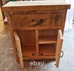 Solid Wood Rustic Storage Cupboard Bathroom Unit Wooden Unit Made To Order