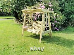 Superb Wooden Garden Swing Adult Swing Seat Hammock Pressure Treated Solid Swing