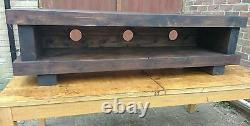 TV stand Chunky Rustic Side Table Wooden Sleeper 150cm cabinet lcd plasma coffee