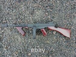 Thompson M1 Wooden toy machine gun Tommy Gun American gangsters party handmade