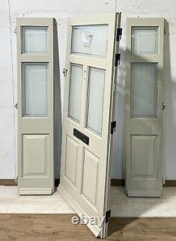 Timber Windows-handmade-bespoke Wooden Front Entrance Door-sidelights-sage Green
