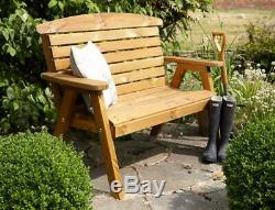 Tom Chambers Hand Made 2 Seater Chunky Rustic Wooden Garden Bench Furniture
