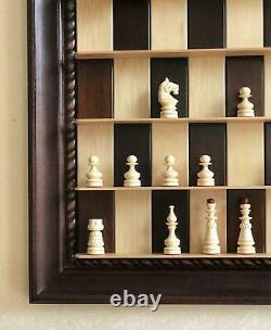 Vertical Chess Set Unique Handmade Chess Board Home Wall Wooden Chessboard UK