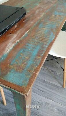 Vintage Rustic Dining Table Retro Style Kitchen Room Handmade Furniture Wooden