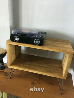 Vinyl Album Record Wooden Storage Rustic Reclaimed Solid Wood Handmade