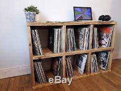 Vinyl album Record LP Wooden Rustic Reclaimed Wood Shelving Handmade Storage