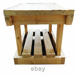 WIDE 4FT 120x80cm NEW HEAVY DUTY VERY SOLID WOODEN WORK BENCH STRONG HAND MADE
