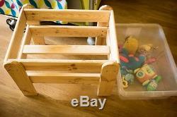 WOODEN SAND or WATER PLAY TABLE SANDPIT GARDEN KIDS INDOOR/OUTDOOR HANDMADE
