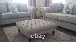 W I N T E R S A L E Amazing Deep Buttoned Footstool Fast Free Uk Delivery