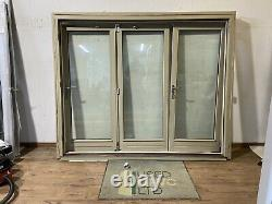 Wooden Bi Folding Doors-bifolds-folds-timber-grey-handmade-bespoke-sliding-used