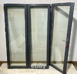 Wooden Bi Folding Doors-bifolds-folds-timber-handmade-bespoke-sliding-grey-used
