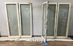 Wooden Bi Folding White Doors-bifolds-folds-timber-handmade-bespoke-sliding-used
