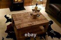 Wooden Coffee Table, Reclaimed Pallet, Rustic Decor, Handmade
