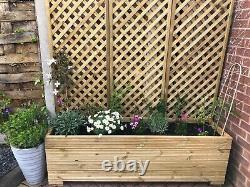 Wooden Garden Decking Planter- Handmade size 1200mm x 300mm x 250mm