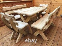 Wooden Garden Furniture Set