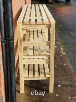 Wooden Greenhouse Staging shelving potting bench Very Solid 3 TIER