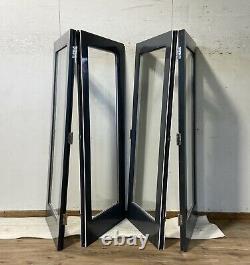 Wooden Grey Bi Folding Doors-bifolds-folds-hardwood-handmade-bespoke-anthracite