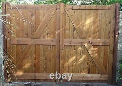 Wooden Hand Made Driveway Gate's'wanstrow