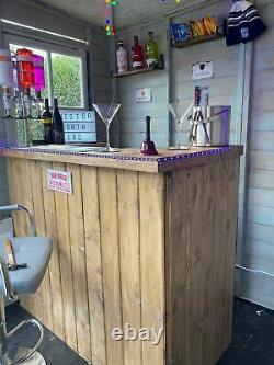 Wooden Home bar Man cave