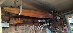 Wooden Kayak / Canoe Ideal Upcycle Decorative Item! Hand Made Vintage Item