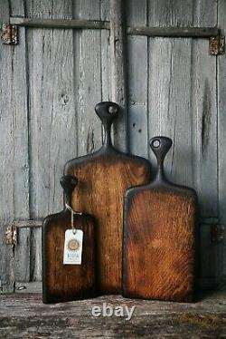 Wooden Oak Chopping Boards with Handle, Rustic Cutting Board Wood Cheese Board
