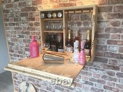 Wooden Outside Wall Hung Bar. Ideal For Beer, Wine and Gin