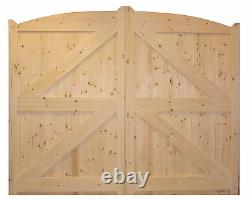 Wooden Pair Of Hand Made Arched Driveway Gate's'chantry