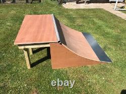 Wooden Quarter Pipe Skate / Scooter / BMX ramp New 2 x 4