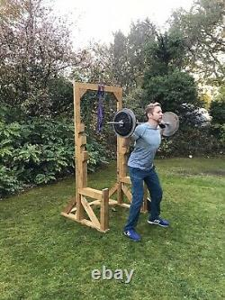 Wooden Squat With Chest Press Rack