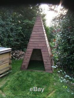 Wooden Teepee playhouse story room handmade