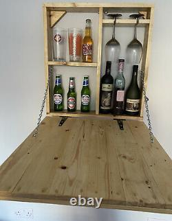 Wooden Wall Outdoor Bar Wine Beer And Gin Garden Party Home Drinks Bar Cabinet
