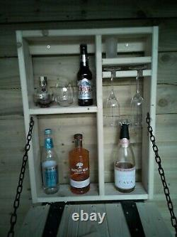 Wooden Wall Outdoor Bar prosecco Beer Gin shots Garden Party Home Drinks Bar