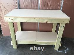 Wooden Workbench 4ft Mdf Top Hand Made In Uk- Cheapest On Ebay