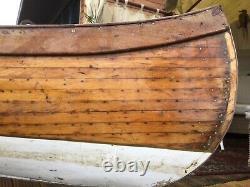 Wooden canoe, 14 foot long, handmade Edwardian, good condition