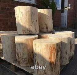 Wooden log stool, side table, pub stool, foot stool, natural or oiled finish