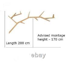 Wooden shelf tree branch- shaped, bookcase, branch shelf
