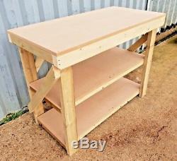 Work Bench MDF Top 18mm Industrial Wooden Garage Heavy Duty Handmade Table