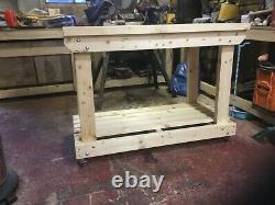 Workbench heavy duty 4x2 Baguley Workbench wooden handmade